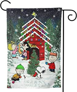 Stockdale Christmas Charlie Brown Garden Flag Decorative Seasonal Outdoor Flag 12.5x18 Inch