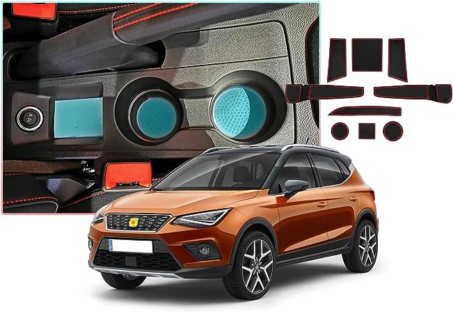 Cdefg Für Seat Ibiza Arona Auto Innere Türschlitz Rutschfest Anti Staub Becherhalter Matte Arm Box Aufbewahrung Pads Auto