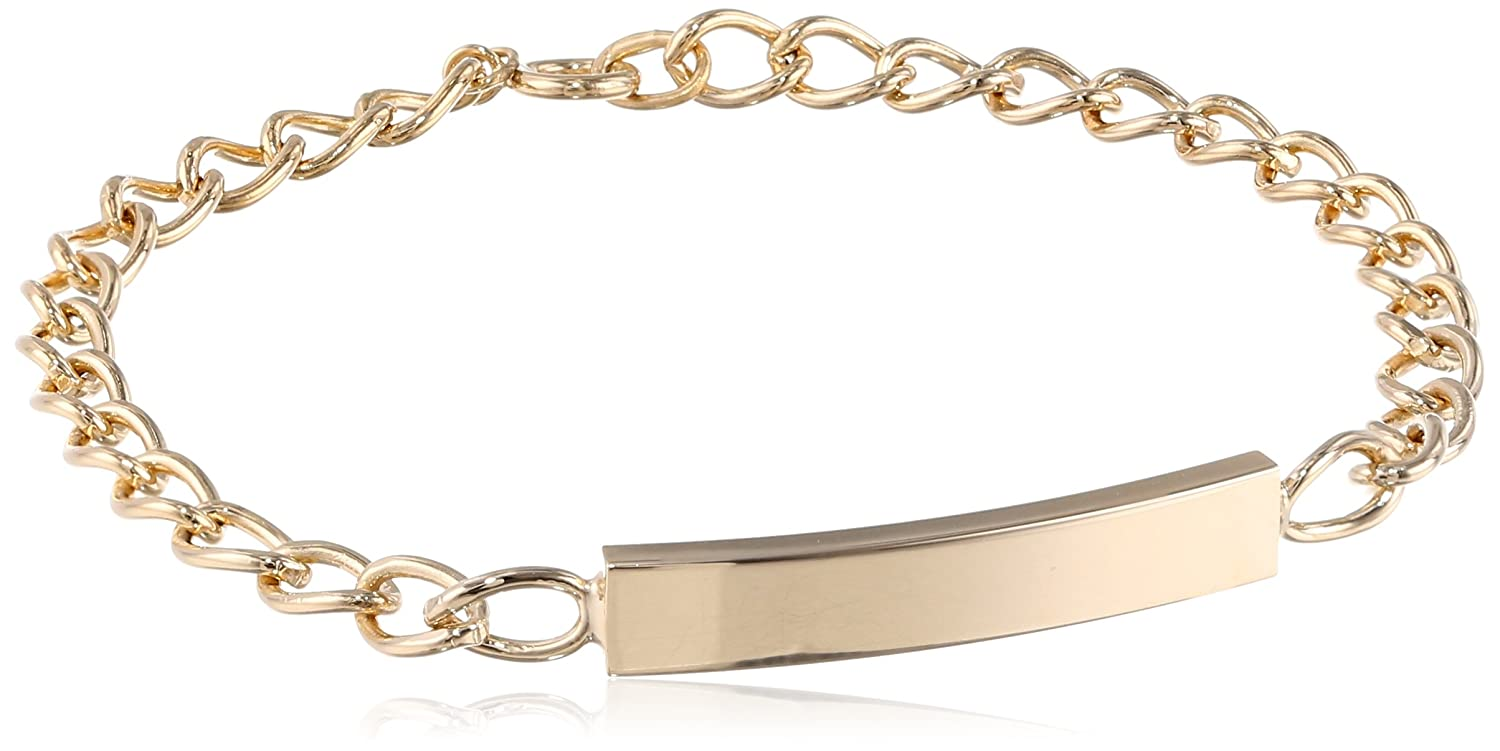 14k Yellow Gold-Filled Children's Rectangular ID Bracelet, 6.25