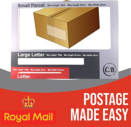 Royal Mail Letter Large Letter Postal Template Size Guide Postage