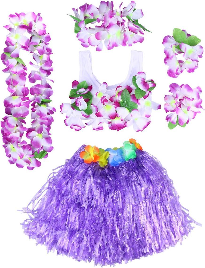 BESTOYARD Conjunto de Disfraces de Hula Hawaiana para Niños con ...