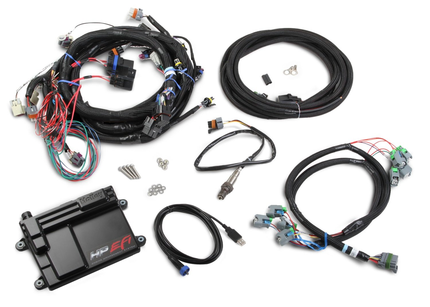 71XAm%2B c gL._SL1500_ amazon com holley 550 603 hp efi, ecu and harness kit automotive ecu wiring harness for 1999 mazda 626 at eliteediting.co