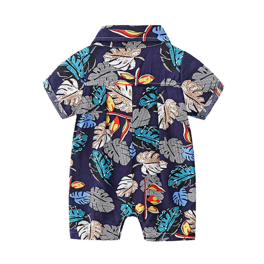 Shusuen_baby Boys Gentleman Outfits Suits Infant Short Sleeve Shirt+Shorts Pants Overalls Clothes Set by Shusuen_baby