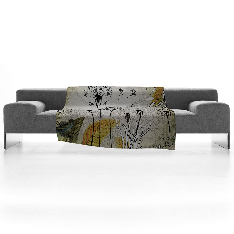 60 x 80 Deny Designs Iveta Abolina Little Dandelion Fleece Throw Blanket