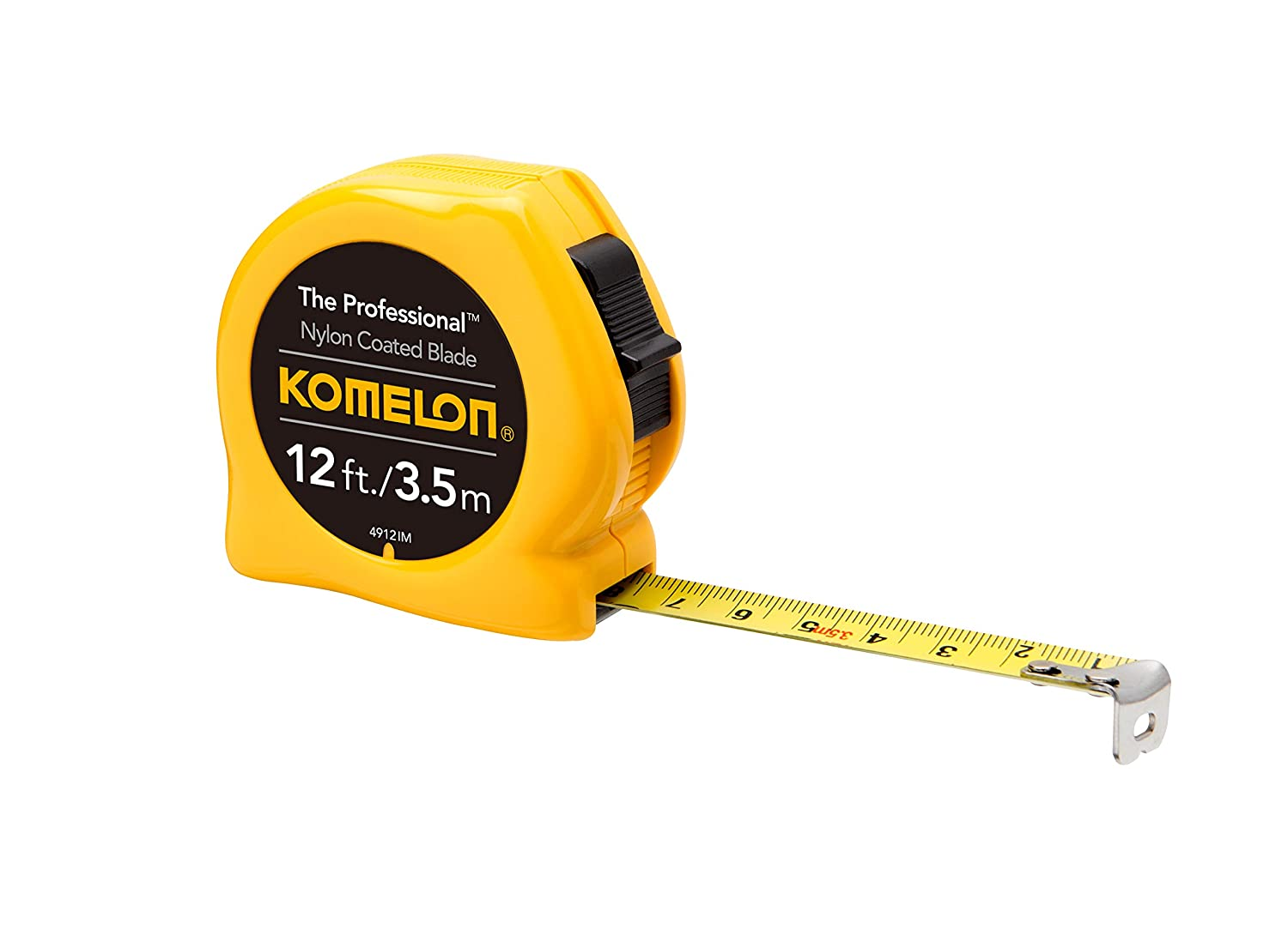 Yellow Komelon 4912IM The Professional 12-Foot Inch//Metric Scale Power Tape