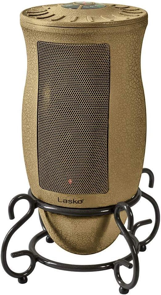 best bathroom heater: Lasko Designer Series Ceramic Space Heater-Features Oscillation, Remote, and Built-in Timer, Beige