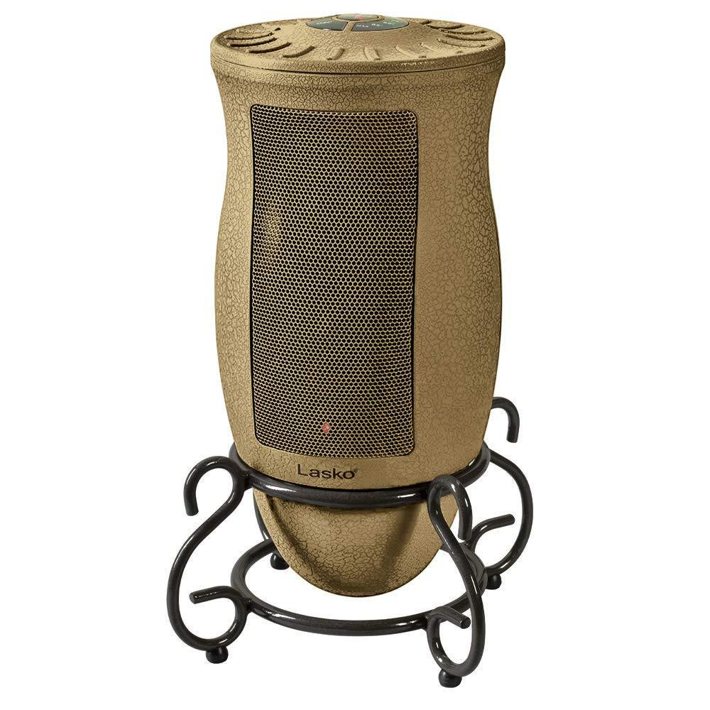 Lasko Designer Series Ceramic Space Heater-Features Oscillation, Remote, and Built-in Timer, Beige by Lasko