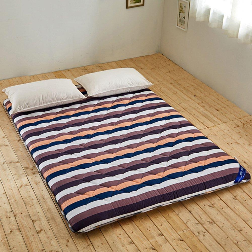 完全の綿パッド入りマットレス,学生のための柔らかいベッド マット,折りたたみマット-A B07PJR7QQM A 120x190cm(47x75inch)