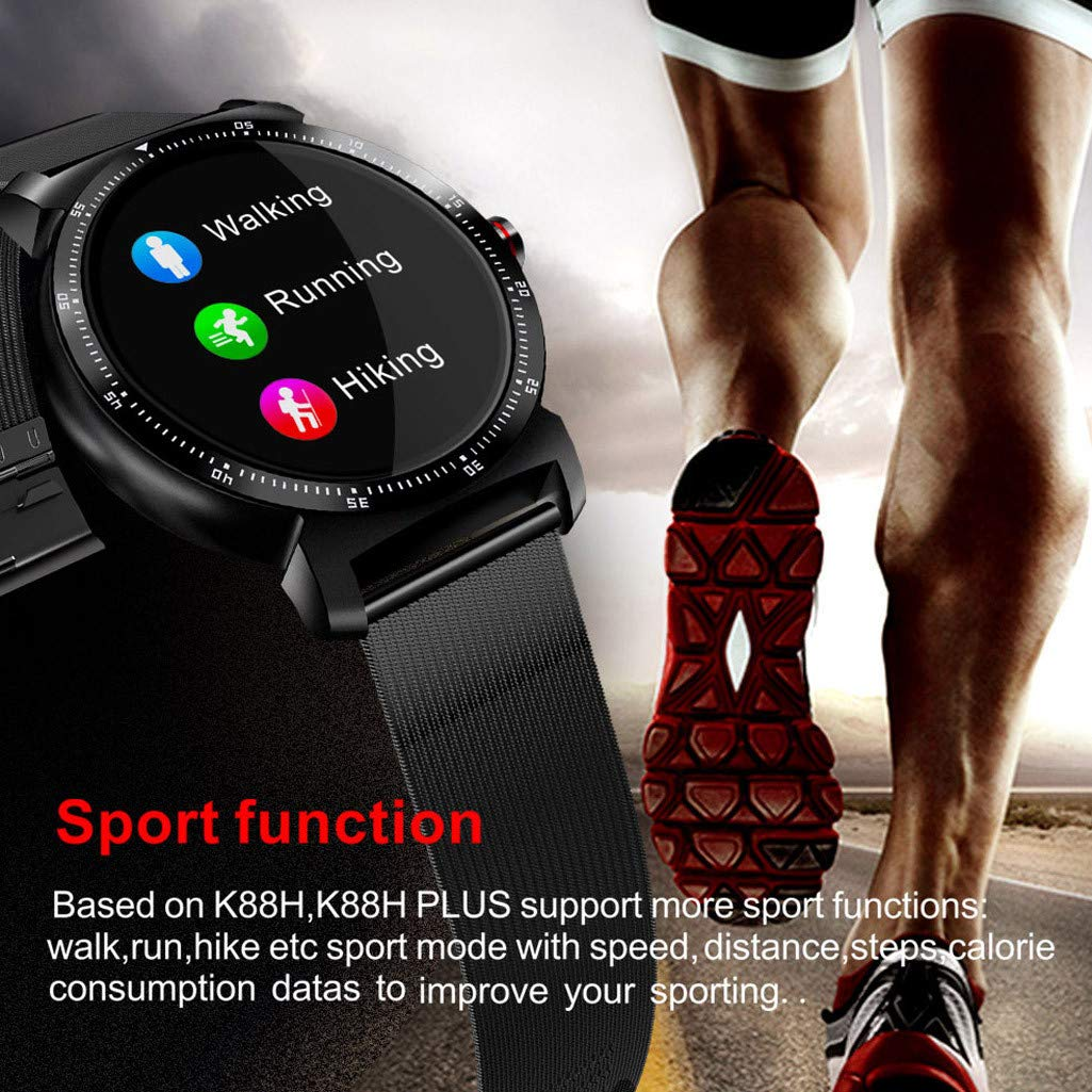 Cywulin Smart Watch Fitness Tracker, Touchscreen Activity Tracking Multi-Function Bracelet Waterproof with Heart Rate Sleep Monitor, Calorie, Pedometer for iPhone iOS Android Kids Men Women (Black) by Cywulin (Image #2)