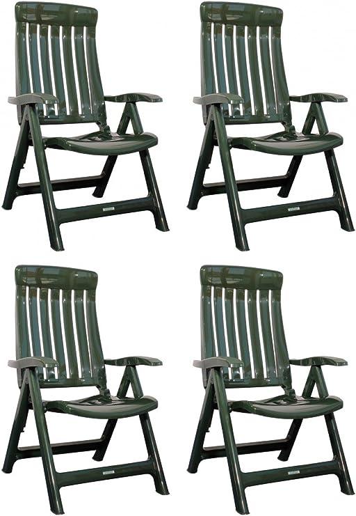Steiner Marina Lot de 4 chaises de jardin pliantes en ...