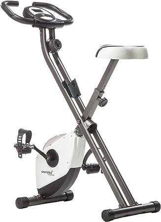 Skandika Foldaway X-1000 - Bicicleta estática fitness - 8 niveles de resistencia - máx.110 kg - plegable (blanca)
