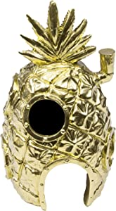 Penn-Plax Officially Licensed Spongebob Squarepants Pineapple House Golden Edition Aquarium Ornament