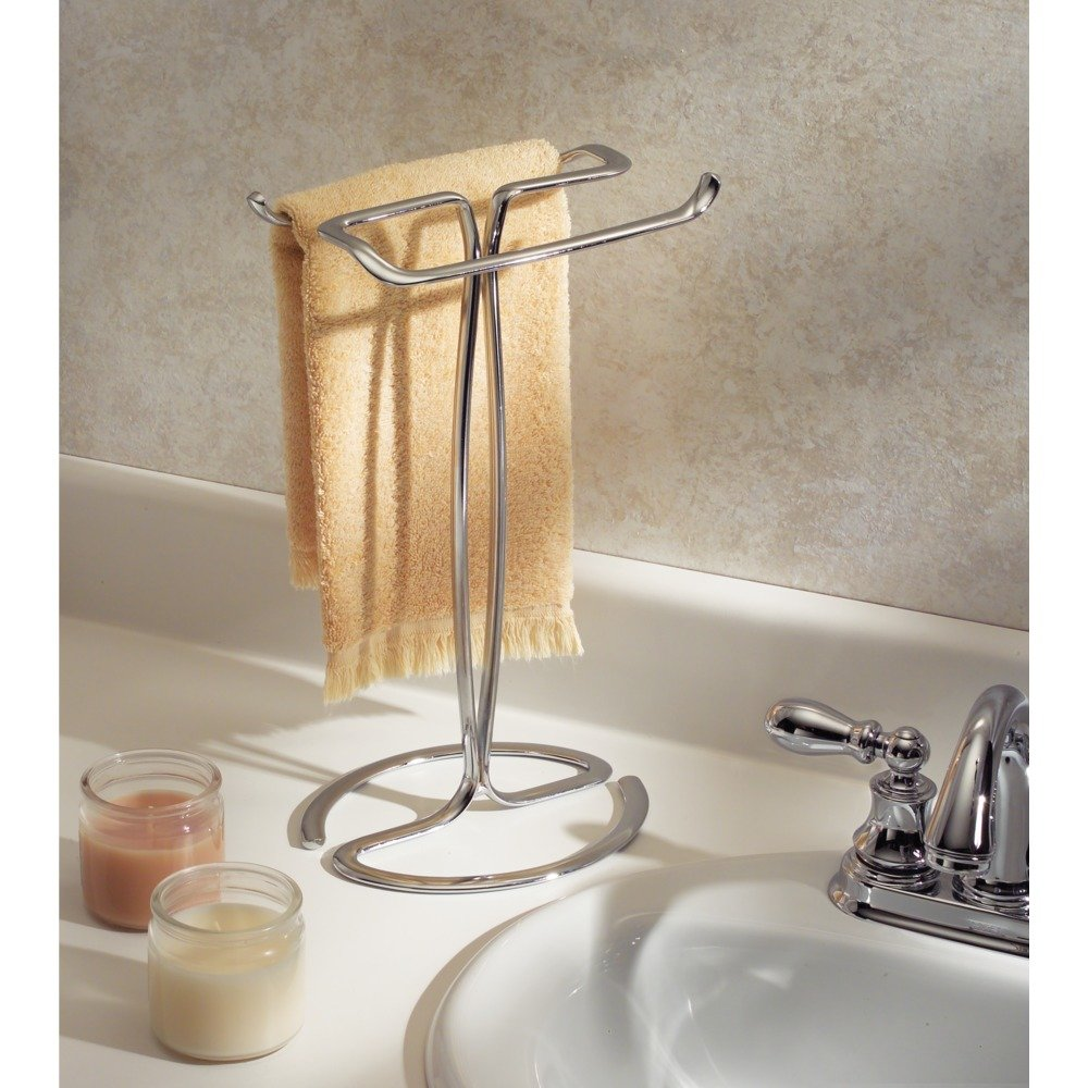 Charmant Amazon.com: InterDesign Axis Towel Holder For Bathroom Vanities   Chrome:  Home U0026 Kitchen