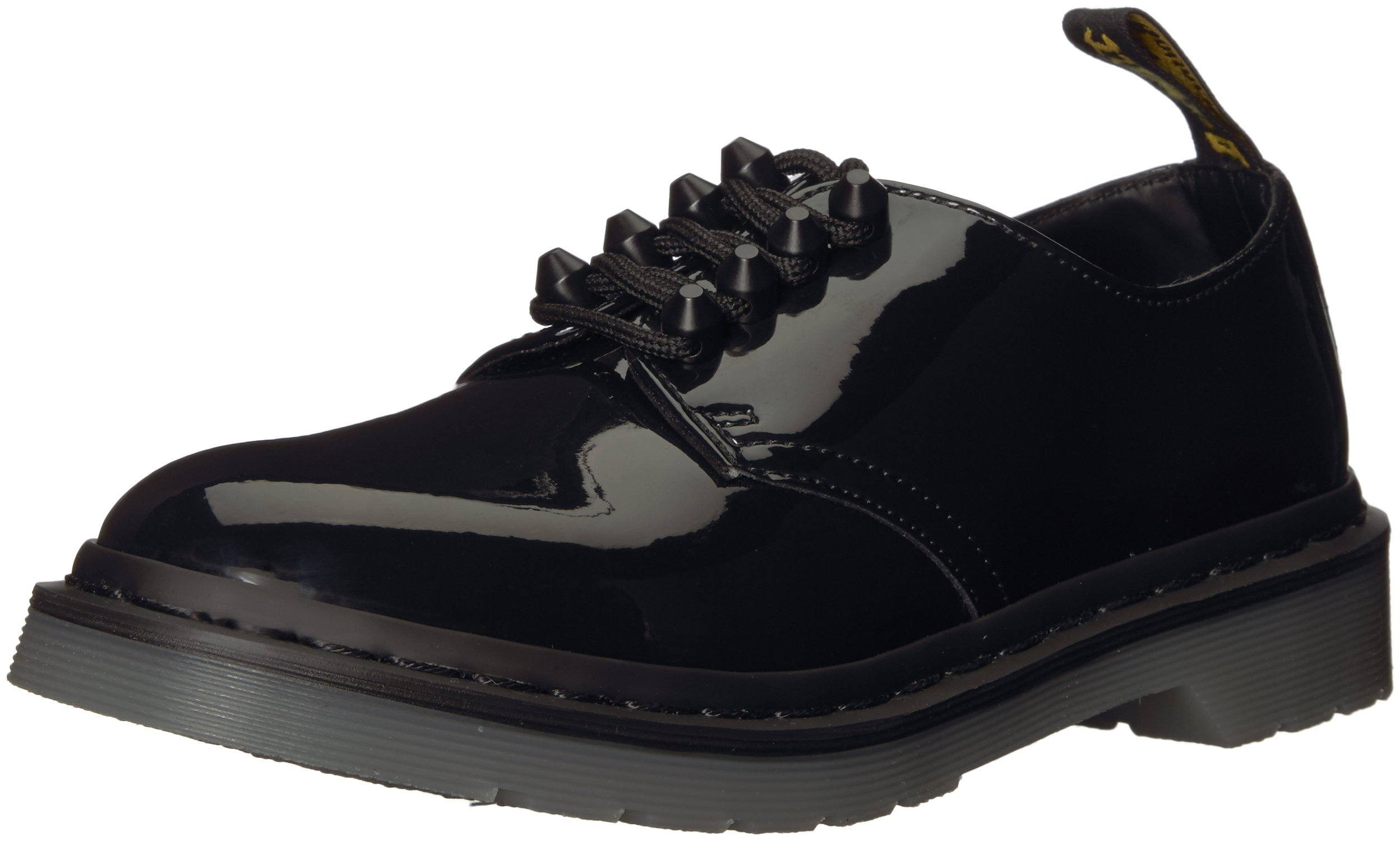 Dr. Martens Women's Smith Stud Oxford, Black Patent, 3 Medium UK (5 US)
