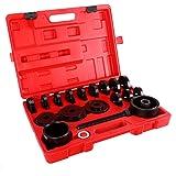 OrionMotorTech 23 Piezas FWD adaptadores de cojinete de Rueda Delantera para Tirador, Prensa, Kit de Herramientas de…
