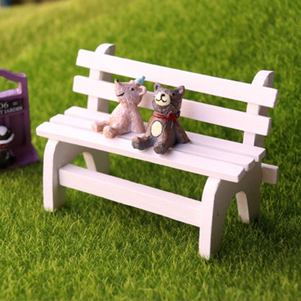 Miniatur Holz Schreibtisch+Stuhl Regenschirm Fee Garten Ornament Puppenhaus Gut