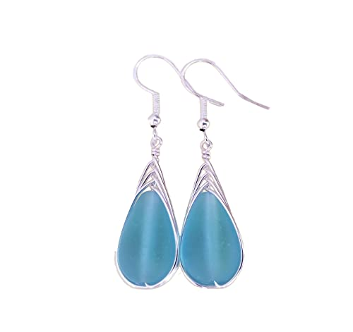 Fun Fashion Dangle Jewelry Dark Blue Sailboat Earrings: Vacation Reveal Gift Ideas Drop Earring Accessories Gifts for mom or grads