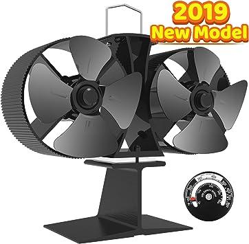 Ventilador de estufa de leña con calor Eco Fan, ventilador de ...