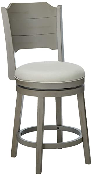 Magnificent Hillsdale Furniture 4541 826 Hillsdale Clarion Distressed Gray Wood Swivel Counter Stool Height Creativecarmelina Interior Chair Design Creativecarmelinacom