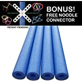 Oodles of Noodles Deluxe Famous Foam Pool Noodles -Made in USA- Highest Quality 4 PACK