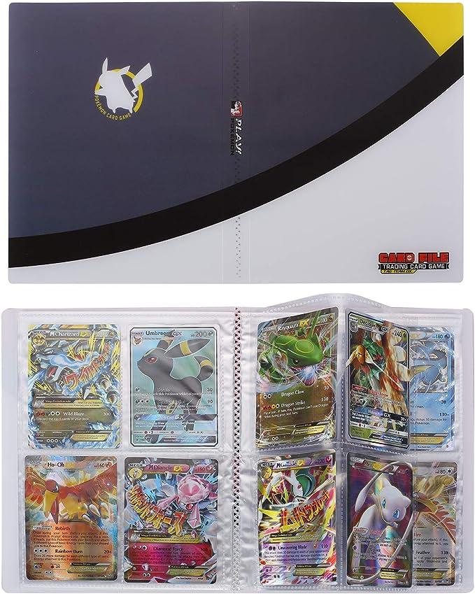 R/ücken an R/ücken 240 Karten 30 Seiten Mewtwo VS Mew Speicher Album kompatibel Pokemon Karten Halter Ordner kompatibel Pokemon Karten GX MEGA und EX Bindemittel Kompatibles Pokemon karten