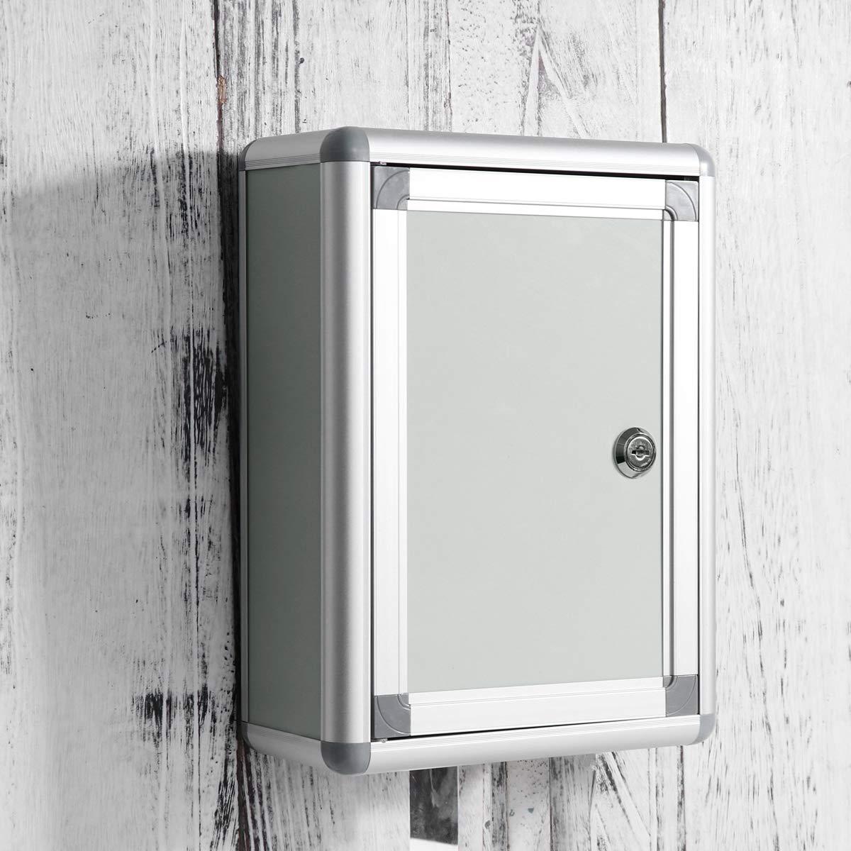 STOBOK buz/ón peque/ño buz/ón de sugerencias con cerradura colgar en la pared caja de quejas