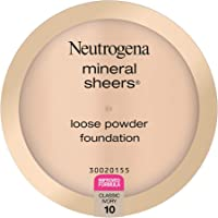 Neutrogena Mineral Sheers Lightweight Loose Powder Makeup Foundation with Vitamins A, C, & E, Sheer to Medium Buildable…