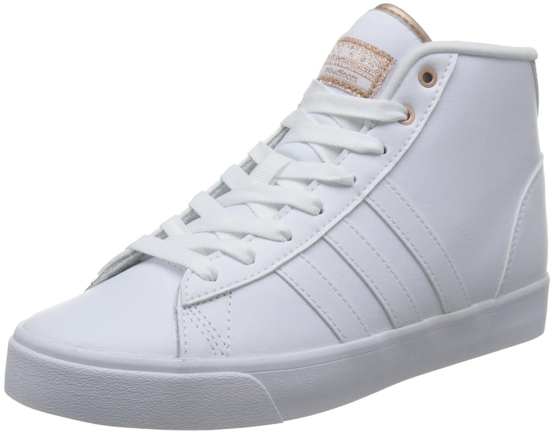 Adidas Damen Cloudfoam Daily Qt Mid W Turnschuhe Low Hals FTWR Weiß Copper met