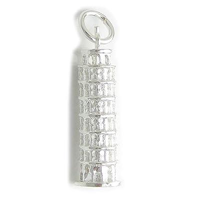 Carcasa de la Torre de Pisa pulsera de plata de ley 925. 1 x ...