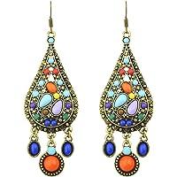 Bohemian Big Circle Hook Earrings Mujeres Fashion Ethnic