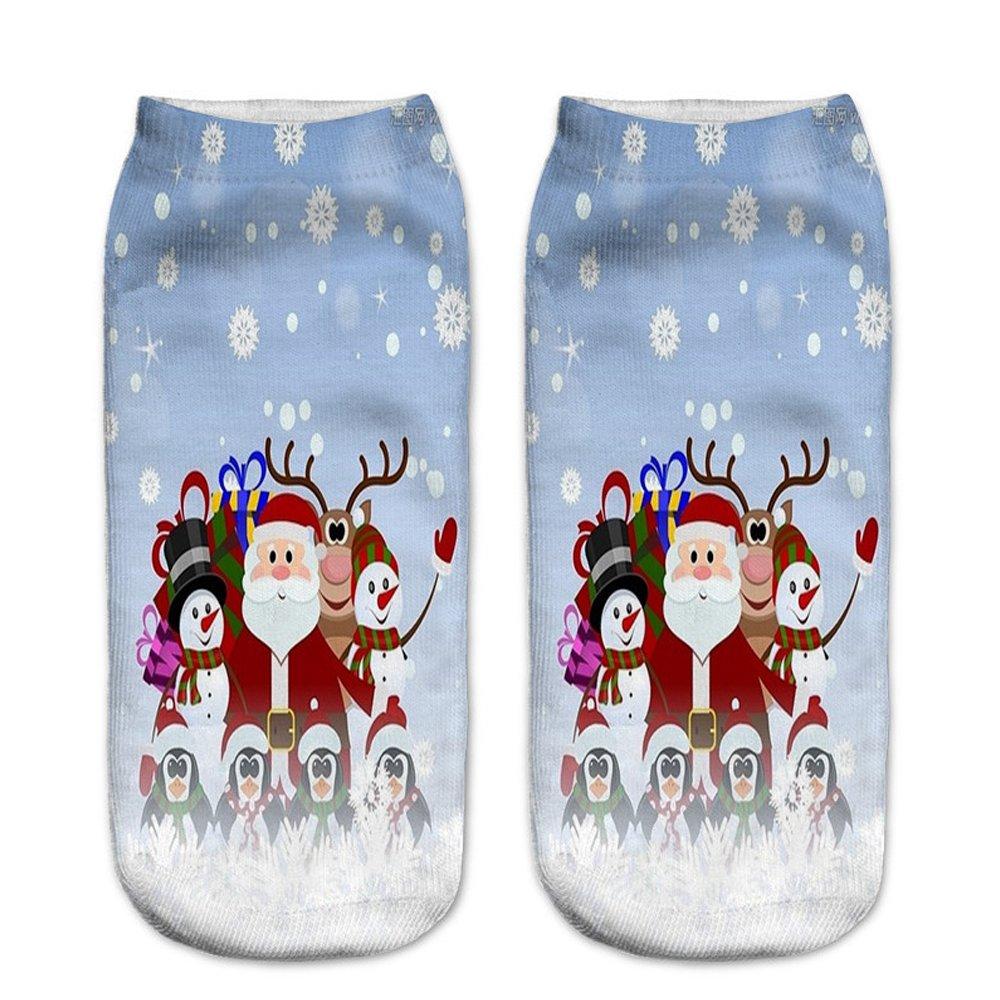 Calcetines casuales de la Feliz Navidad 6PC de las mujeres para las muchachas: Amazon.es: Deportes y aire libre