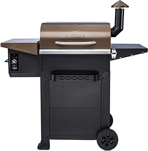 Z GRILLS Wood Pellet Grill Smoker for Outdoor Cooking, 8-in-1 Brown Pid Controller