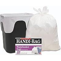 """Webster HAB6FW130 Handi Bag 8 Gallon Super Value Pack Waste Basket Bag, 0.6 Mil, 24"""" Height x 22"""" Width, White (Case of 130)"""