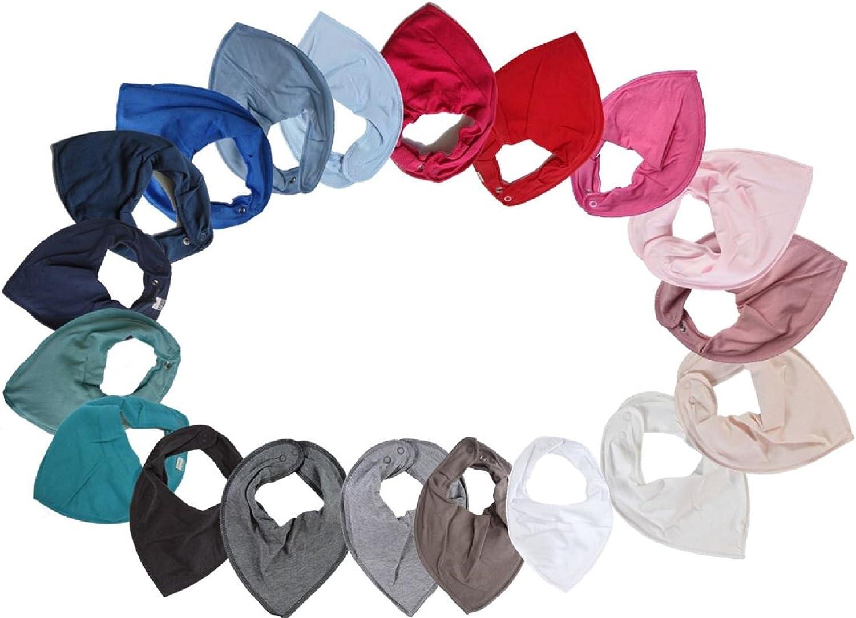 verschiedene Farben NAME IT HALSTUCH Baby Dreieckstuch UNI mit Druckkn/öpfen doppellagig Virtual Pink//Pink