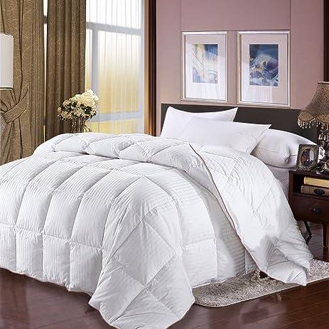 Twin Size Goose Down Comforter Duvet Insert 100% Egyptian Cotton Cover  White Comforters Duvet White