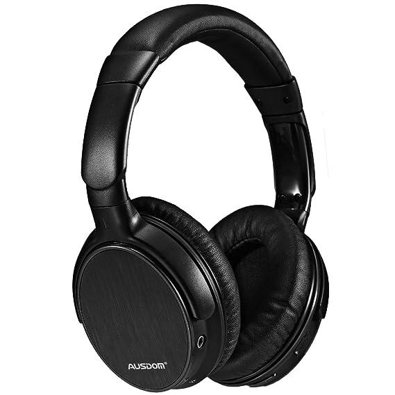 39218f95e5e [CNET's PICK]Bluetooth Headphone Mic,Ausdom M06 EDR Overhead Stereo Deep  Bass [