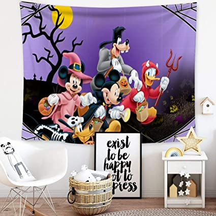 Amazon.com: DISNEY COLLECTION Tapestry Halloween Mickey ...