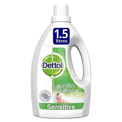 Dettol Antibacterial limpiador de lavandería, delicada fragancia libre, 1,5 L, pack
