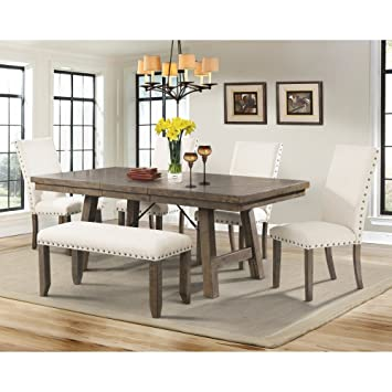 Picket House Dex 6 Piece Dining Table Set Amazonca Home Kitchen