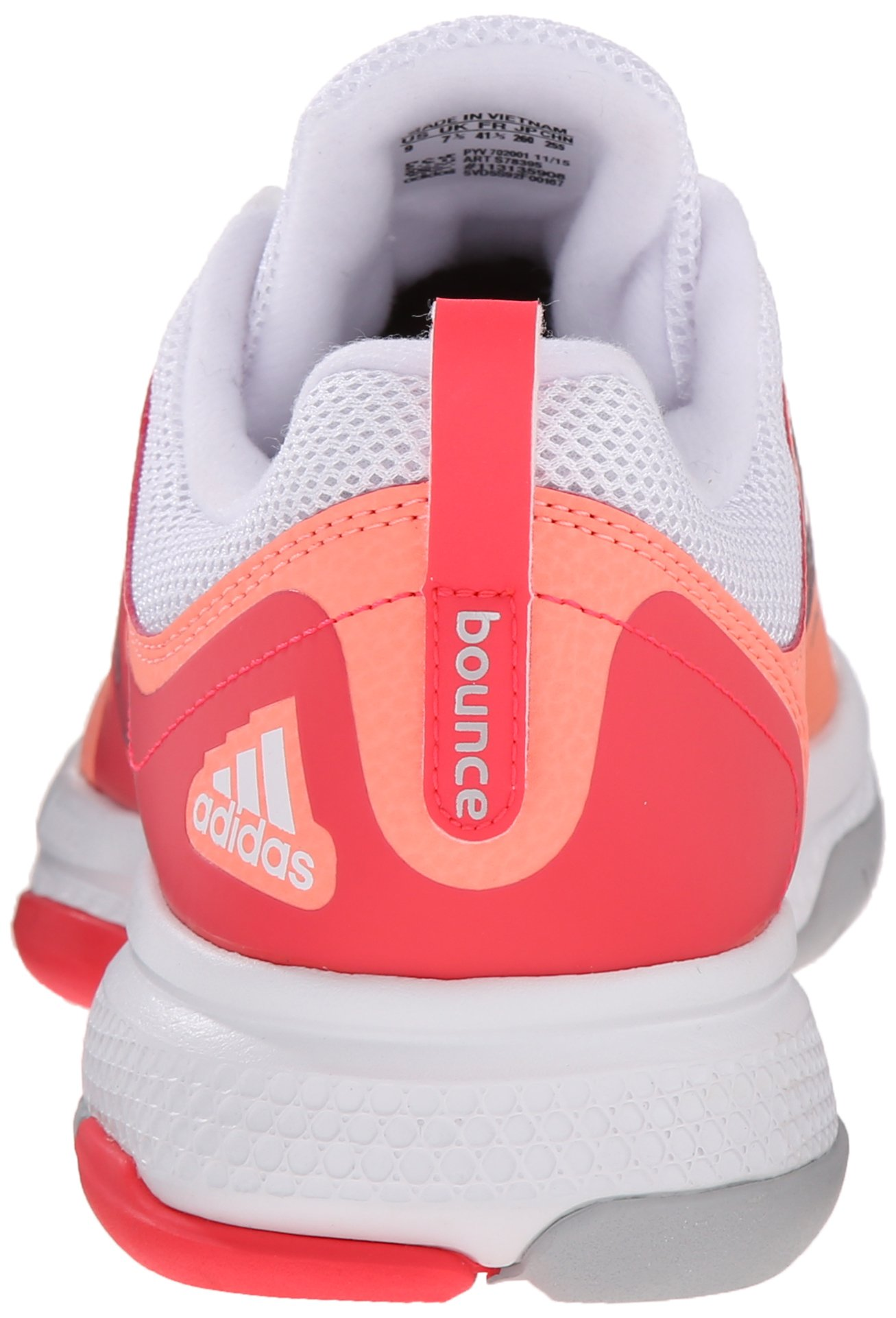 adidas Performance Women's Barricade Classic Bounce W Training Footwear,Sun Glow Yellow/Metallic Silver/Shock Red,9.5 M US by adidas (Image #2)