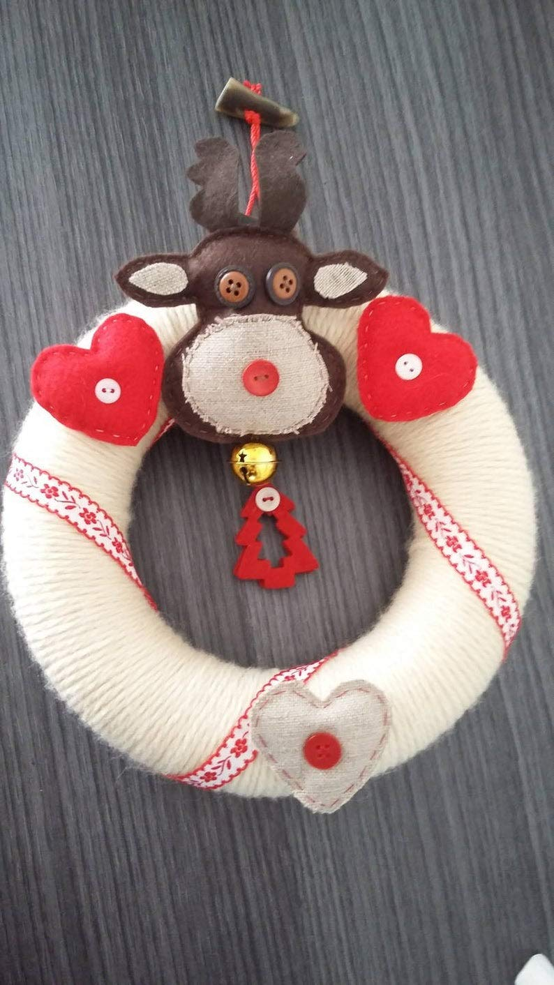 RubyShopUU Christmas Wreath Scandinavian Winter by RubyShopUU