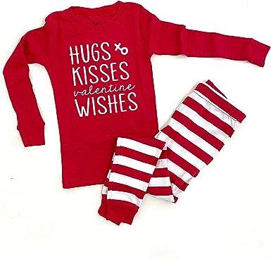 Embroidery Applique Valentine/'s Day Pajamas Monogram Pajamas Heart Valentine/'s Pajamas Valentine PJ Girls Valentine Pajama