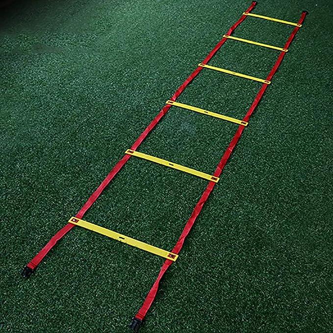 Xin Speed Agility Ladder 4M 8 Rung Tipo Fijo Escalera de Entrenamiento for fútbol Speed Basketball Fútbol Fitness Pies Entrenamiento: Amazon.es: Deportes y aire libre