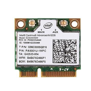 Richer-R Mini Tarjeta Bluetooth WiFi, 300 Mbps 2.4 / 5G Dual-Band Mini Tarjeta PCI-E WiFi Compatible con Windows 7 / Windows 8 / Windows 10 para Intel ...
