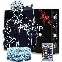 Harry Potter 3D Illusion Lamp Kerstcadeau Nachtlampje Nachtlampje Nachtkastje Tafellamp, 16-kleuren Dimbaar met…
