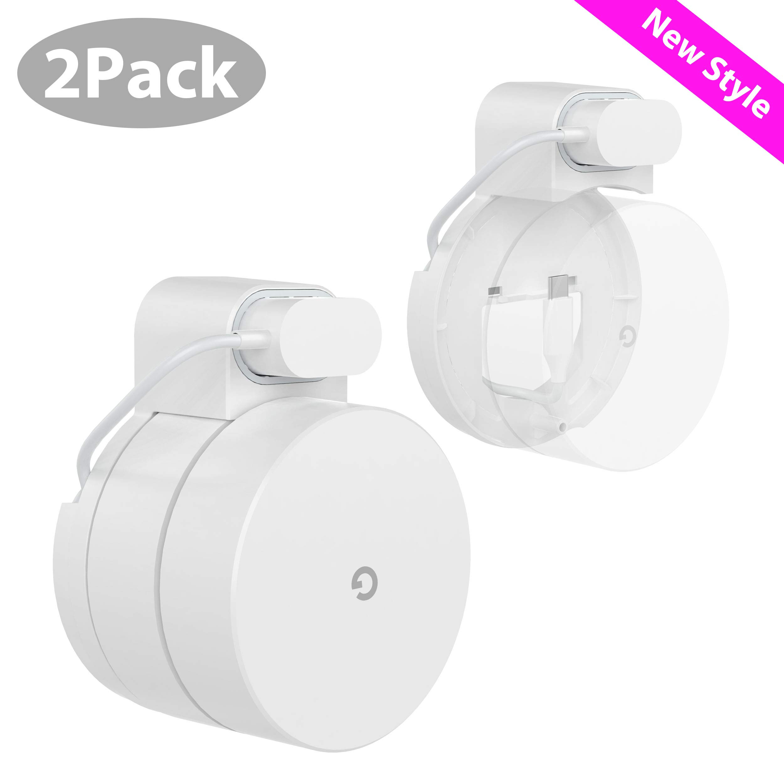 Google WiFi Mount, Stouchi No Protruding Parts Mount Holder for Google WiFi System All Blend into One Harmonious 2 Packs by Stouchi