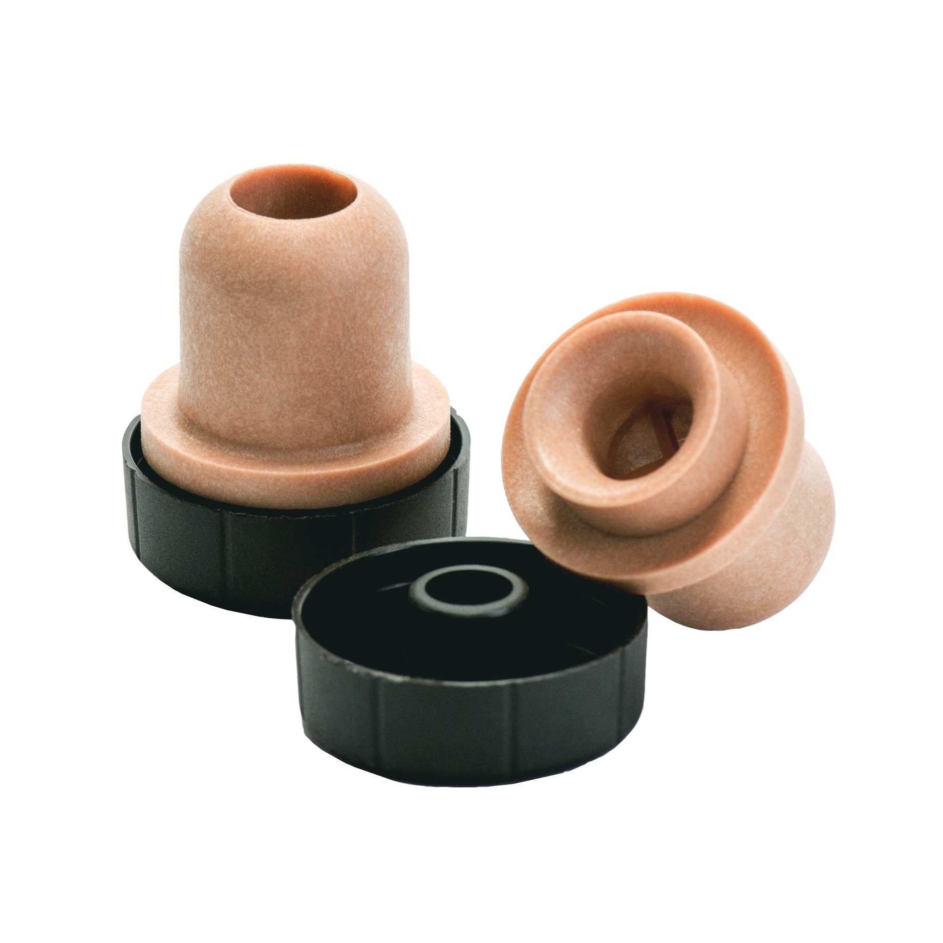 North Mountain Supply Bar Top Tasting Corks - Synthetic Pour Spout with Plastic Tops - Bag of 12