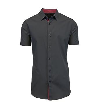 61b65a722 Galaxy by Harvic Mens Short Sleeve Casual Button Down Shirts at Amazon Men's  Clothing store: