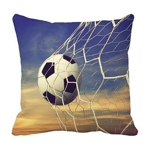 LarissaHi Funda de Almohada Deportiva, balón de fútbol y ...