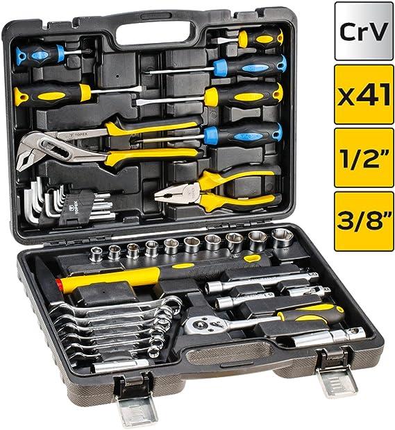 56 Piezas – Caja de herramientas caja de herramientas caja de herramientas llaves de carraca: Amazon.es: Bricolaje y herramientas